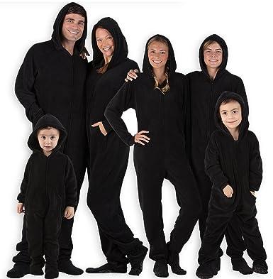 cc9b3bdd7 Amazon.com  Footed Pajamas - Family Matching Raven Black Hoodie ...