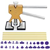 AUTOUTLET Car PDR Paintless Dent Repair Kit Dent Puller Lifter Body Dent Removal Tools Slide Hammer Pullers with 24 Puller Tabs & 5 Glue Sticks