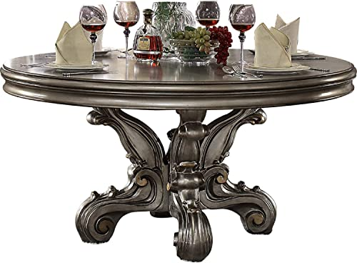acme Versailles Dining Table Round Pedestal
