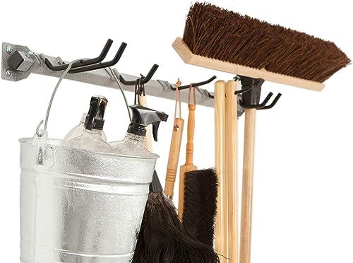 Monkey Bars Storage Mop Broom 200-LBS Customizable Organizer Wall Mount