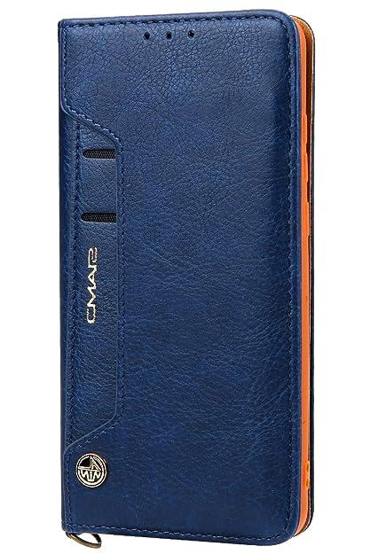 REALIKE f/ür Huawei P20 Pro H/ülle Leder handgemachte Brieftasche H/ülle Magnetverschluss Tasche mit Standfunktion Kartenf/ächer und Bargeld Schutzh/ülle f/ür M/änner und Frauen-Grau Schwarz