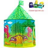 Dinosaur Castle Tent PLAY10 Playhouse Children Pop up Play Tent for Kids Indoor & Outdoor Fun with Convenient Storage Carry Bag