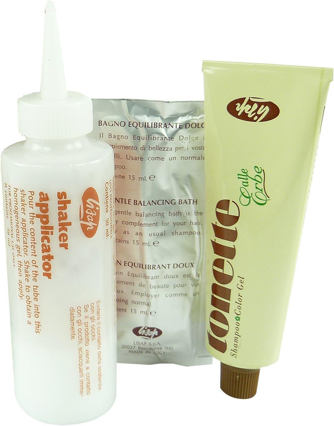 Lisap - Tonette Herbal Tinte Shampoo + activador + baño de ...