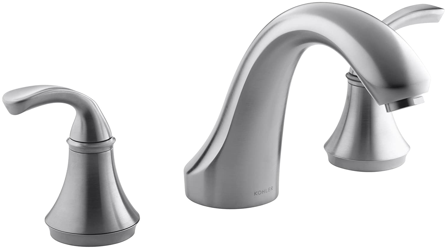 KOHLER K-T10278-4-BN Forte Bath- or Deck-Mount Rim Valve Trim ...
