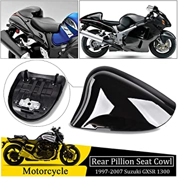 White GXS-R 1300 Hayabusa Rear Pillion Passenger Cowl Seat for 1997-2007 Suzuki GXSR1300 GSX1300R 1998 1999 2000 2001 2002 2003 2004 2005 2006