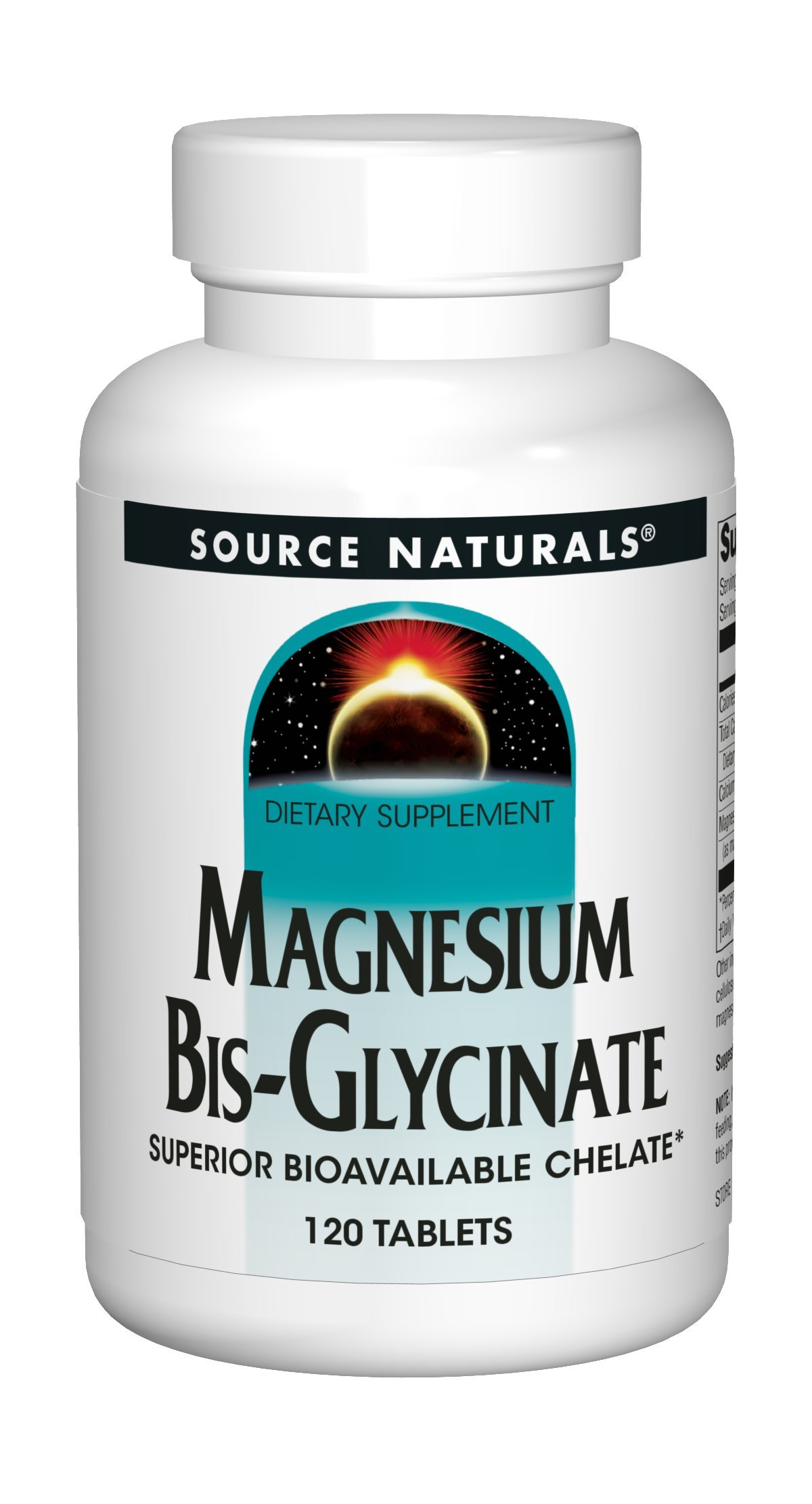 Source Naturals Magnesium Bis-Glycinate - 120 Tablets