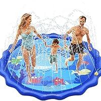 INNOCHEER Sprinkler Pad voor kinderen, Splash Play Mat - Sprinkle Play Mat Sprikler Splash Pad Zomer Spray Speelgoed…