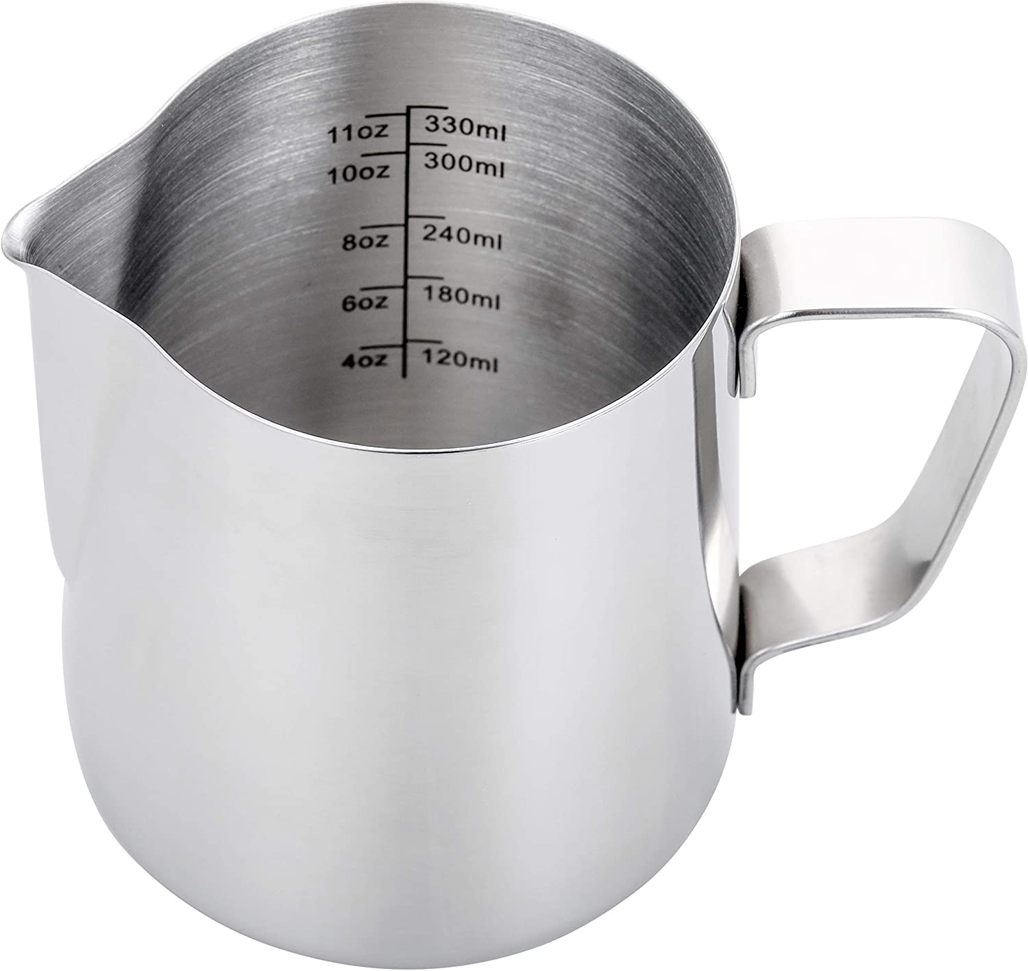Espresso Steaming Pitcher 12 oz,Espresso Milk Frothing Pitcher 12 oz,Coffee Milk Frothing Cup,Coffee Steaming Pitcher 12 oz/350 ml