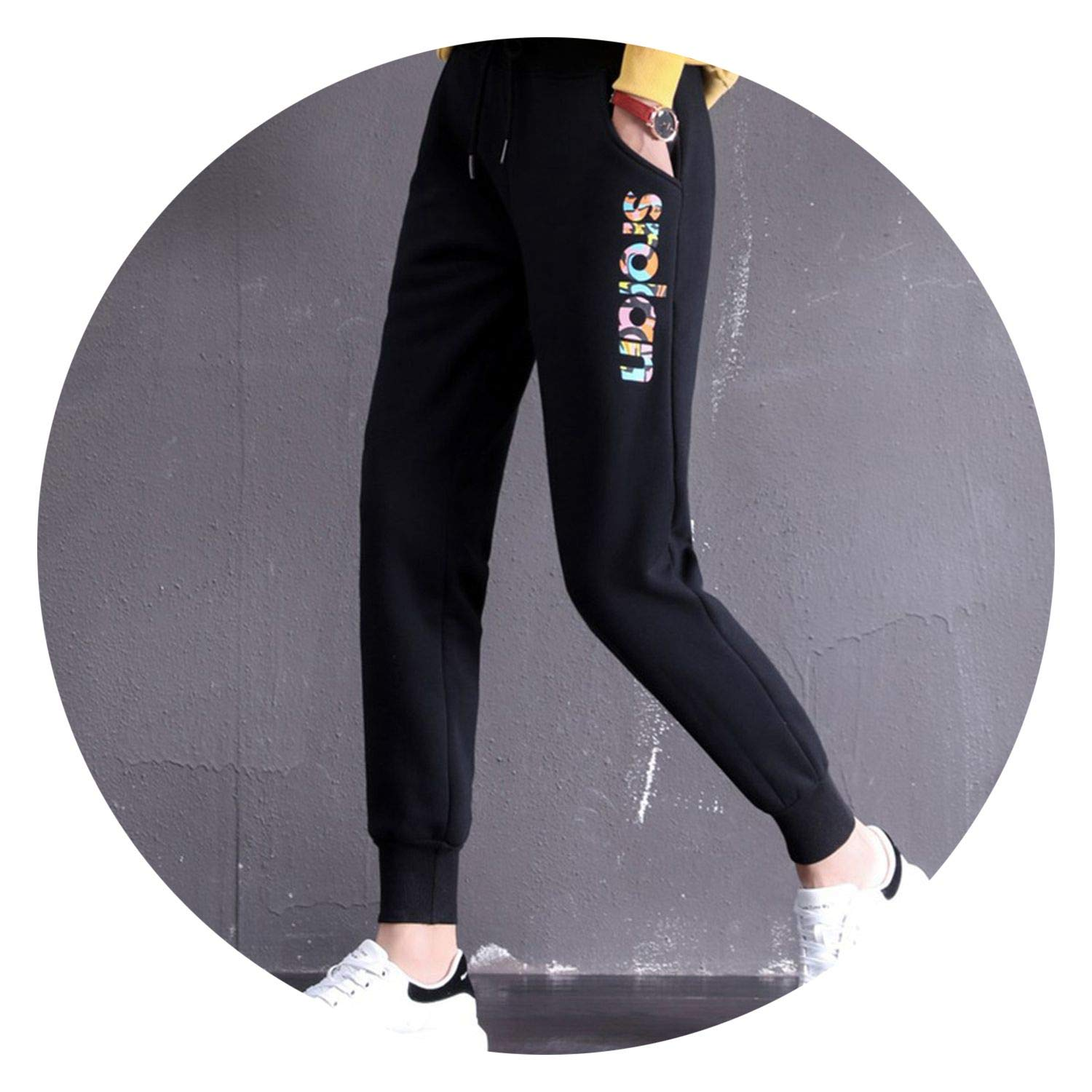 Closer-to-U Women Sweatpants Fe High Waist Trousers Thick ...