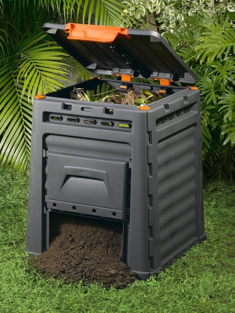 Keter - Compostador ECO, con capacidad de 320 L. Color gris oscuro: Amazon.es: Jardín