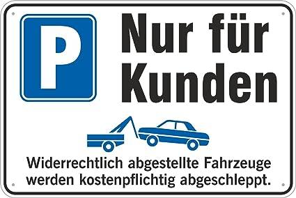 Cartel de aparcamiento solo para clientes, 200 x 300 mm, de ...