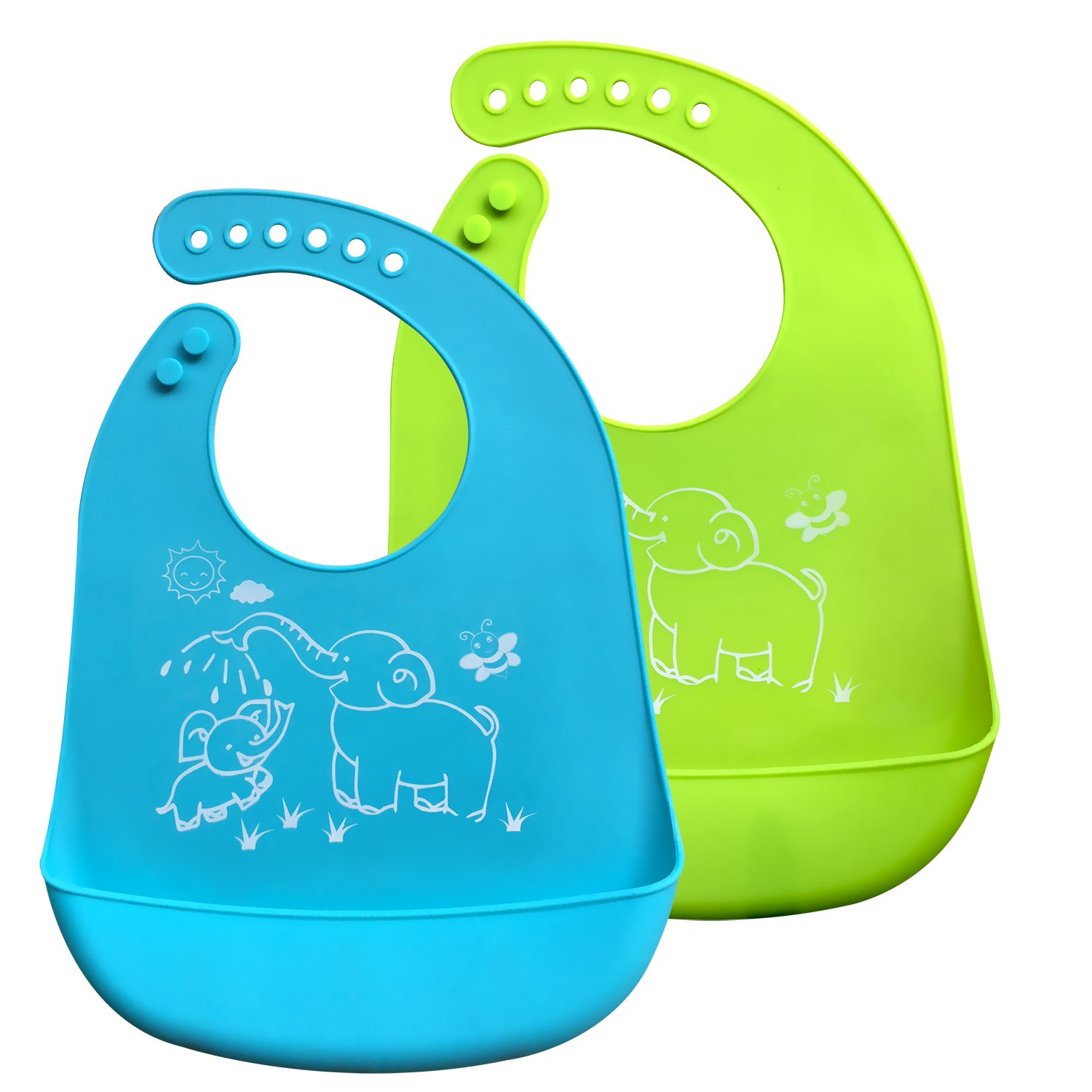 Keeps Clothes Clean Super Baby Waterproof Silicone Bib for Babies & Toddlers Saves Time With Cleanup
