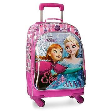DISNEY Frozen Magic - Mochila Trolley equipada con Cuatro Ruedas para niños: Amazon.es: Equipaje