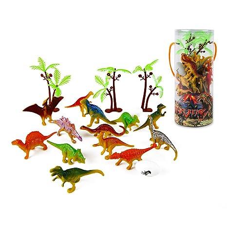Amazon.com: Mini juego de juguetes de dinosaurio (35 piezas ...