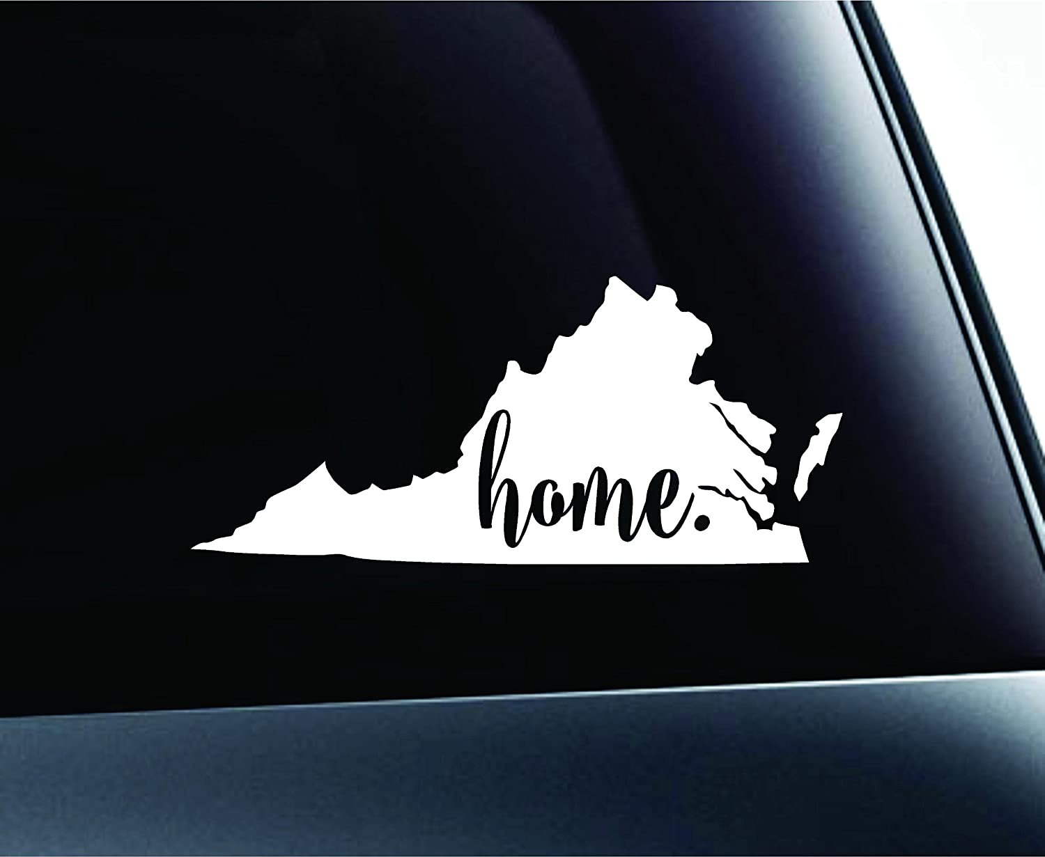 Amazon com 3 home virginia state richmond symbol sticker decal car truck window computer laptop white automotive