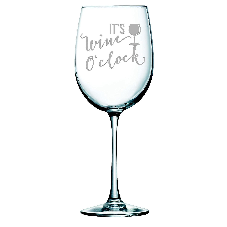 Personalised Its Wine Oclock Wine Glass Wine Lovers Gift