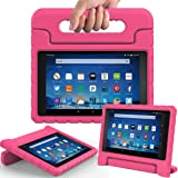 AVAWO Shock Proof Case Compatible for Fire HD 8 2017/2018 Tablet - Kids Shockproof Convertible Handle Light Weight Protective Stand Case for Fire HD 8-inch (7th/8th Generation, 2017/2018 Release),Rose