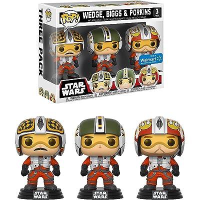 Funko Biggs, Wedge, Porkins (Walmart Exclusive) POP! x Star Wars Vinyl Figure + 1 Official Star Wars Trading Card Bundle: Toys & Games