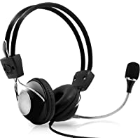 Multimedia Gaming USB Mic Headset - Over Ear Professional Wired Headphone w/Noise Cancelling Mic, 3D 360 Stereo Surround Sound - PC Gaming Console - Game, Skype Chat, Call Center - Pyle Home PHPMCU10