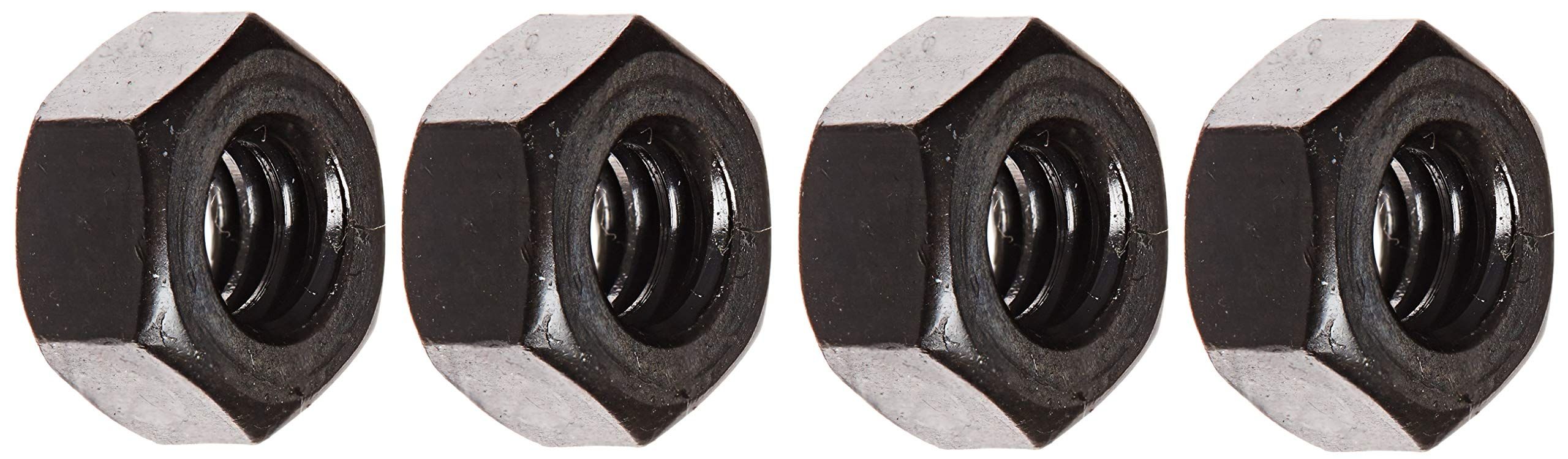 Steel Hex Nut, Black Oxide Finish, Grade 5, ASME B18.2.2, 1/4''-20 Thread Size, 7/16'' Width Across Flats, 7/32'' Thick (Pack of 100) (Fоur Paсk) by Small Parts
