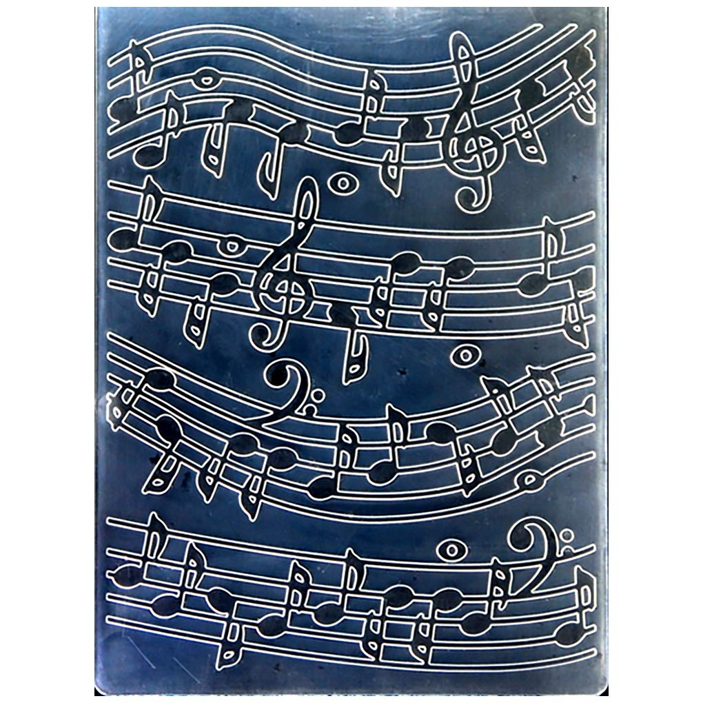Kwan Crafts Musical Note Plastic Embossing Folders for Card Making Scrapbooking and Other Paper Crafts,10.5x14.4cm