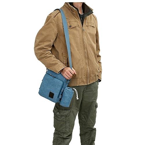 8dd2d478b MeCool Hombre Bolsos de tela Bandolera de Lona de Baratos Bolso de Viaje  Originales para Casual