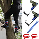 XKMT- Tree Climbing Spike Set Safety Adjustable Belt Lanyard Rope Rescue Belt 2 Gears [P/N: ET-OUTDOOR002-RAW]