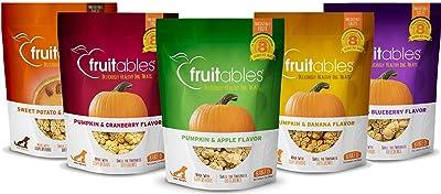 Fruitables All Natural 7 Ounce Vegetarian Pumpkin Baked Crunchy Dog Treats