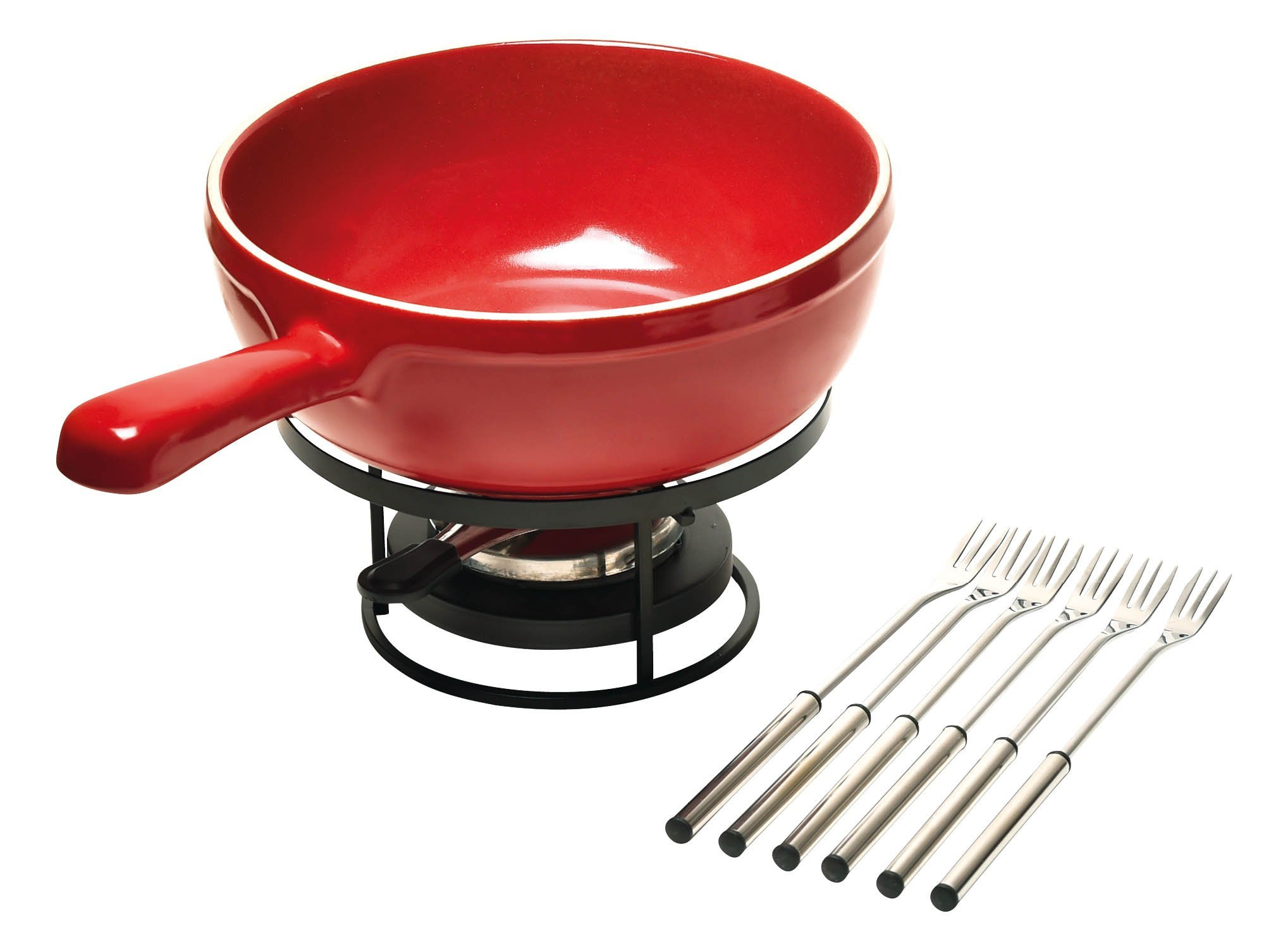 Emile Henry Made In France Flame Cheese Fondue Set, 2.6 quart, Burgundy by Emile Henry