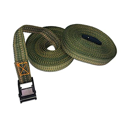 """Highwild Lashing Straps up to 600lbs, 16\' x 1\"""" Cargo Lash Strap - 2 Pack - Green: Home Improvement [5Bkhe0410340]"""
