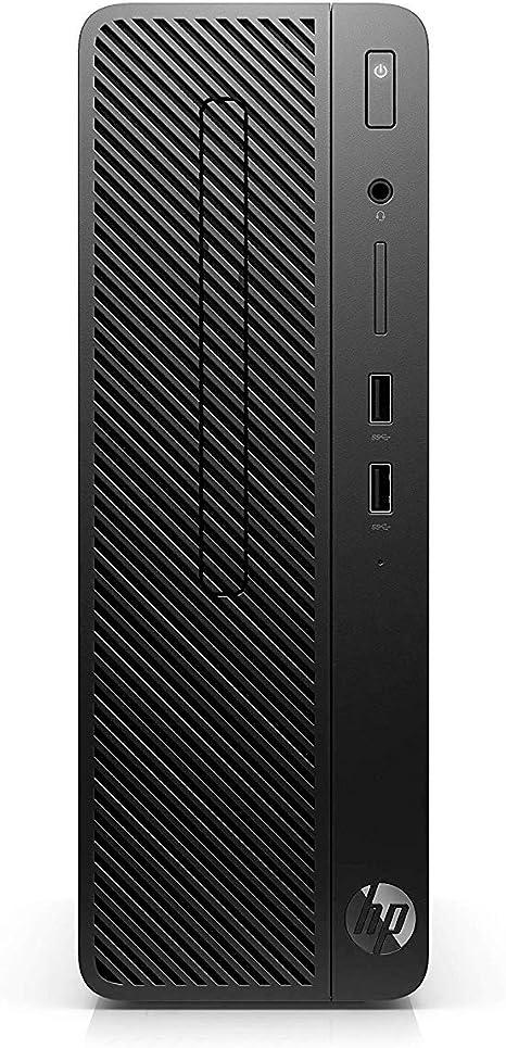 HP 290 G1 SFF - Ordenador de sobremesa profesional (Intel Core i3-8100, 4GB RAM, 128GB SSD, Intel Graphics, Windows 10 Pro) Negro - Teclado QWERTY Español y ratón