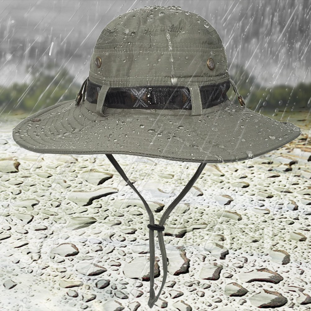 6288037efdb41 LETHMIK Fishing Sun Boonie Hat Waterproof Summer UV Protection Safari Cap  Outdoor Hunting Hat - SH0010GY   Hats   Caps   Clothing