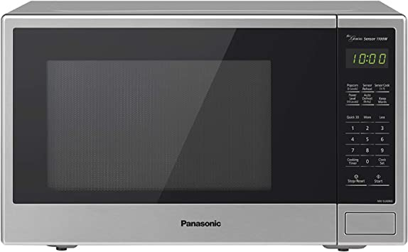 Panasonic Countertop Microwave Oven with Genius Sensor Cooking, Quick 30sec, Popcorn Button, Child Safety Lock and 1100 Watts of Cooking Power - ...