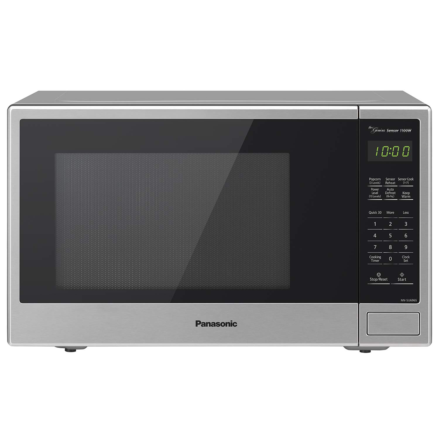 Panasonic Countertop Microwave Oven with Genius Sensor Cooking, Quick 30sec, Popcorn Button, Child Safety Lock and 1100 Watts of Cooking Power - NN-SU696S - 1.3 cu. ft (Stainless Steel) by Panasonic
