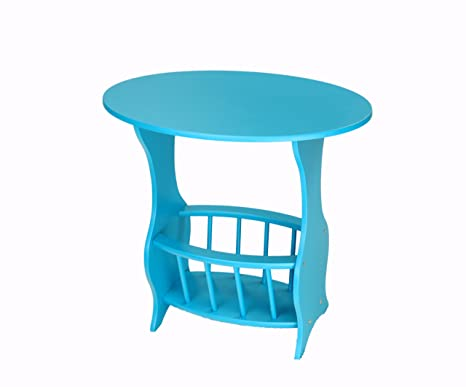 Marvelous Frenchi Home Furnishing Magazine Table, Blue