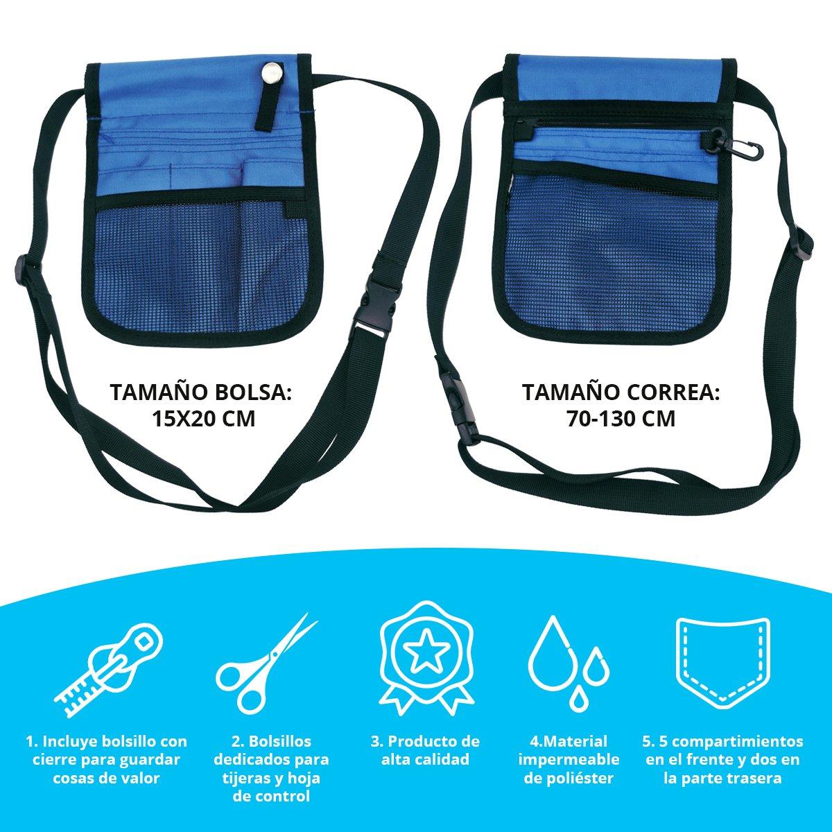 Tillmanns® Salvabolsillos Enfermeria - Organizador Enfermeria Bolsillo - Salvabolsillos Enfermera Azul: Amazon.es: Equipaje