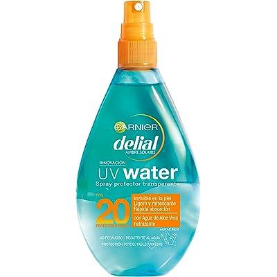 Garnier Delial UV Water Spray Transparente de Protección Solar para Cuerpo y Rostro, Protección Media SPF20 - 150 ml