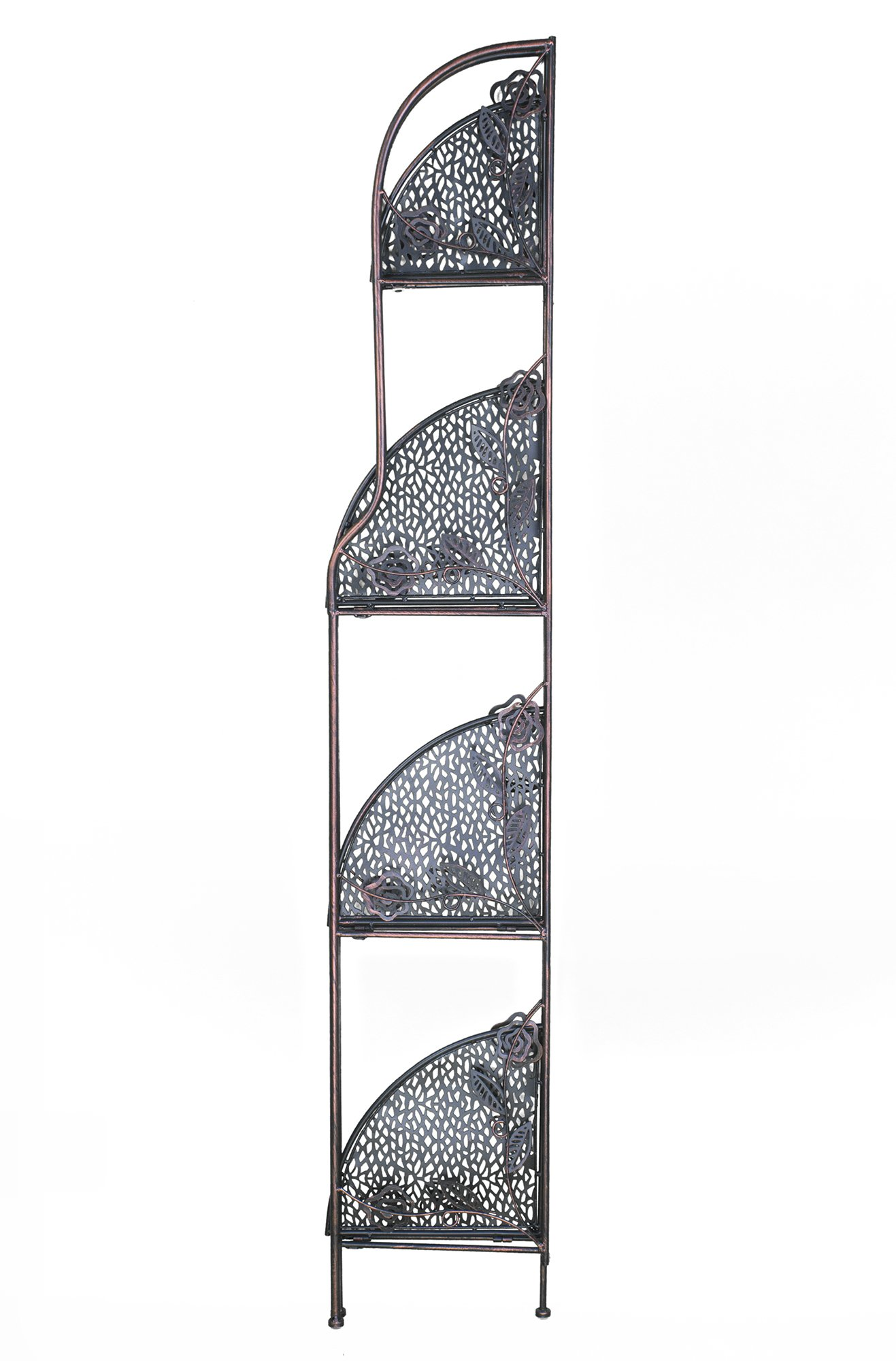 Heather Ann Creations W190837-BC Rosa Kitchen Corner Bakers Rack, Blackened Copper by Heather Ann Creations (Image #4)