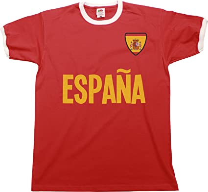 buzz shirts Mens Espana Spain Name Ringer Retro T-Shirt Camiseta ...