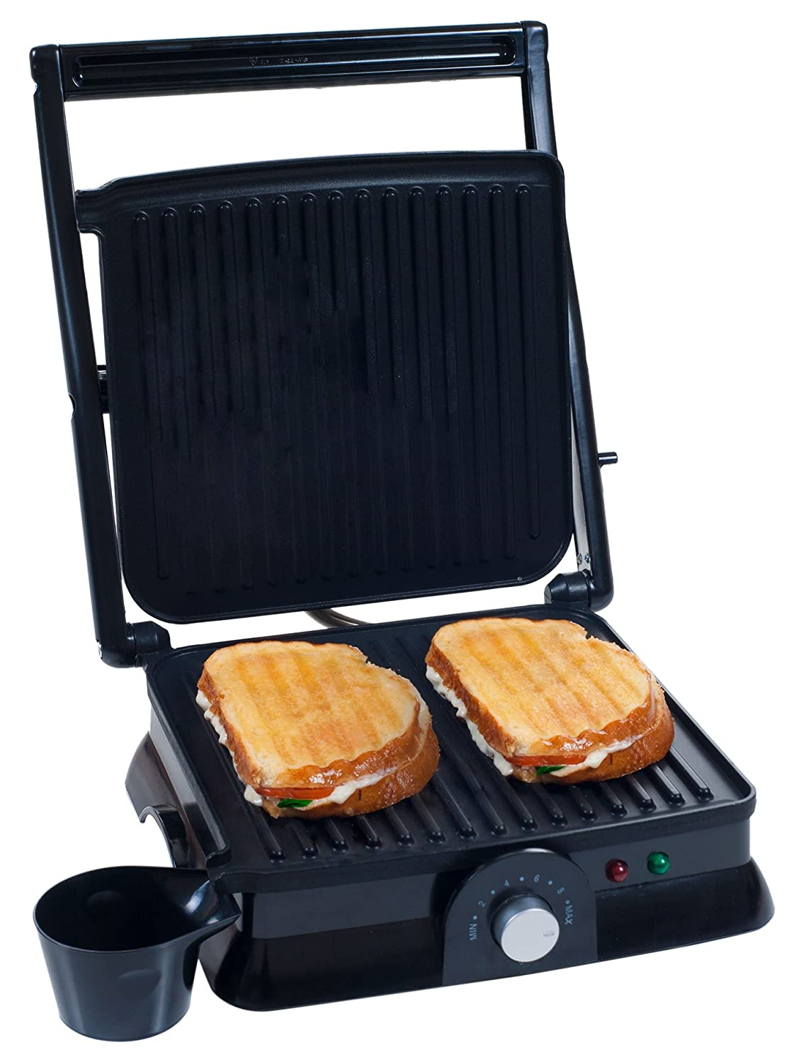Chef Buddy 80-KIT1019 Panini Press Indoor Grill and Gourmet Sandwich Maker, Electric with Nonstick Plates by