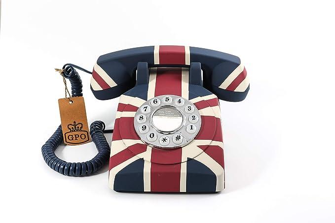 Gpo 1970 Union Jack Retro Telefon Mit Drücktasten Und Mit Der Britischen Flagge Bürobedarf Schreibwaren