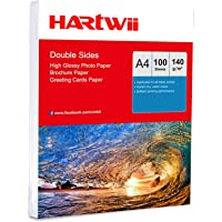 A4 Thin Photo Paper 140Gsm Double Sides Printed High Glossy - 100Sheets Inkjet Paper Both Sides Printing Super White…