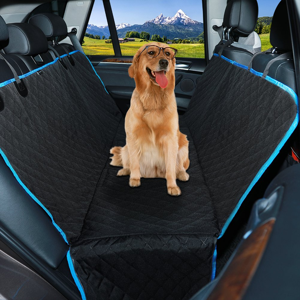 Dog Seat Cover Car Seat Cover,QIMH Waterproof Car Seat Cover for dog cat,Non-Slip,Scratch Proof and Durable Dog Car Seat Hammock backseat Pets Covers for Cars Trucks and SUVs