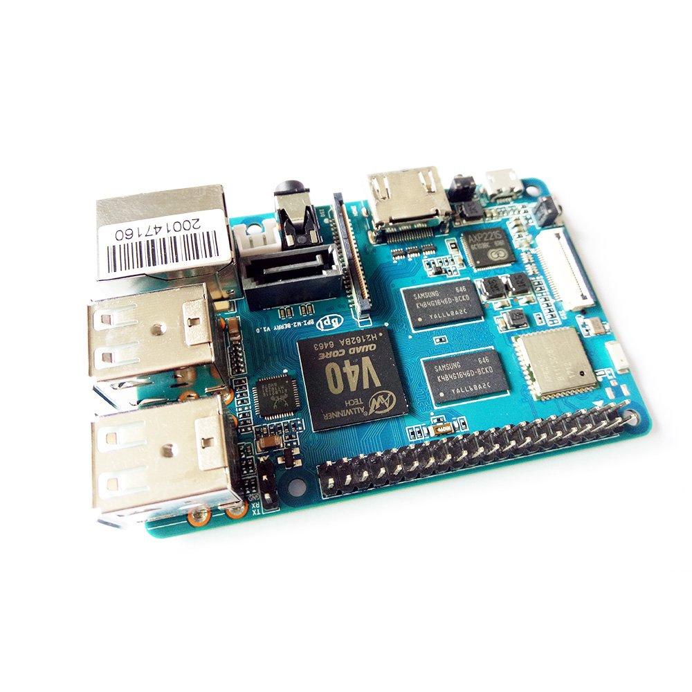 Banana Pi BPI M2 Berry Dual core Mali 400 MP2 GPU 1G LPDDR3 Open-source Development Board , Same Size as Raspberry Pi 3 by SmartFly Info (Image #2)