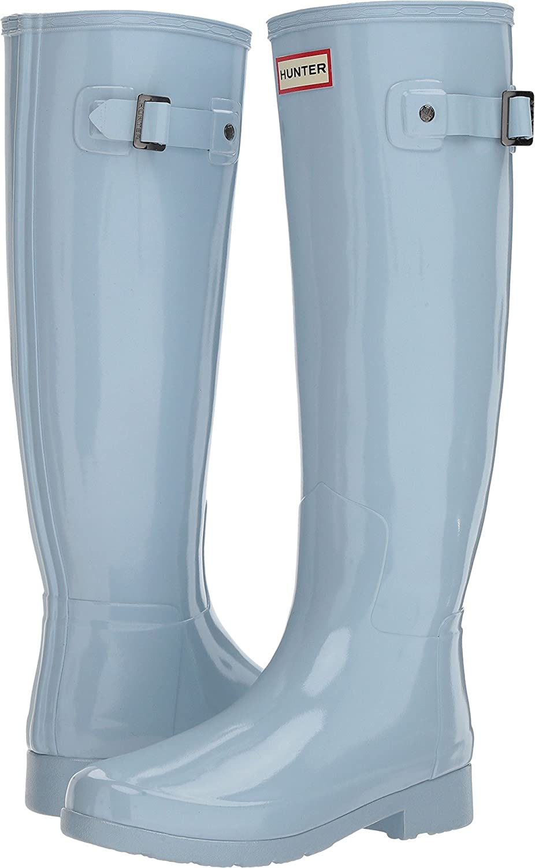 Hunter Women's Original Refined Gloss Rain Boots B079H54WWK 9 B(M) US|Fountain Blue