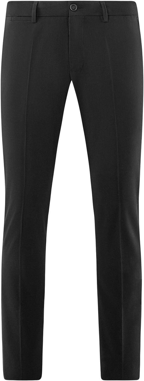 oodji Ultra Mens Slim-Fit Pleated Trousers