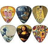 Creanoso Awesome Famous Arts Special Guitar Picks ((4) Famous Arts Theme)
