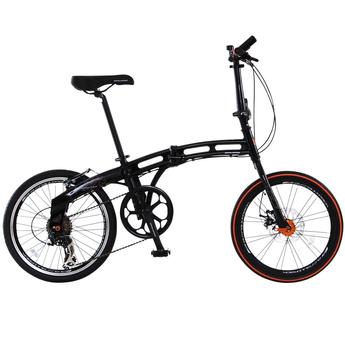DOPPELGANGER(ドッペルギャンガー) 折りたたみ自転車 BLACKMAXシリーズ ASSAULTPACK 211 20インチ パラレルツインチューブフレーム採用モデル B002QQ957A