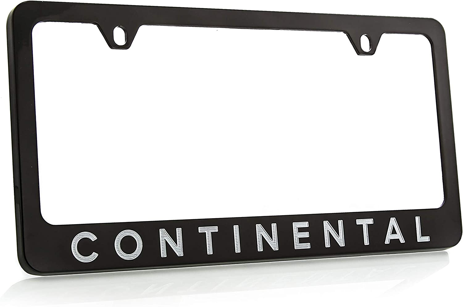 Ford F-150 Chrome Plated Brass Metal License Plate Frame Holder Wide Bottom Engraved 2 Hole Baronlfi