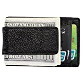 Hoobest RFID Genuine Leather Money Clip Front Pocket Pocket Wallet With Magnet Clip and ID Card Case